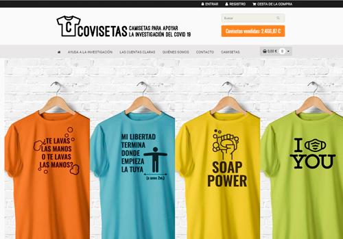 Soluciones ecommerce ejemplo tienda Covisetas