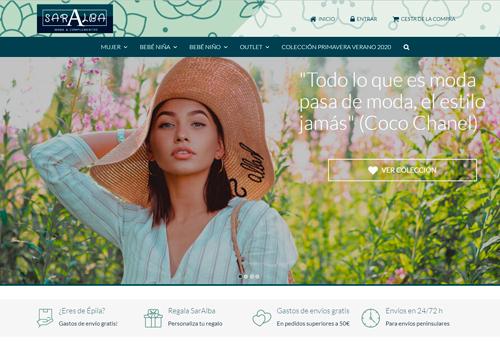 Soluciones ecommerce ejemplo tienda Saralba moda